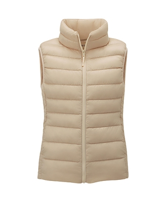 neutral lightweight down vest from Uniqlo