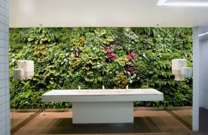 Greenwall in bathroom, Stockholm