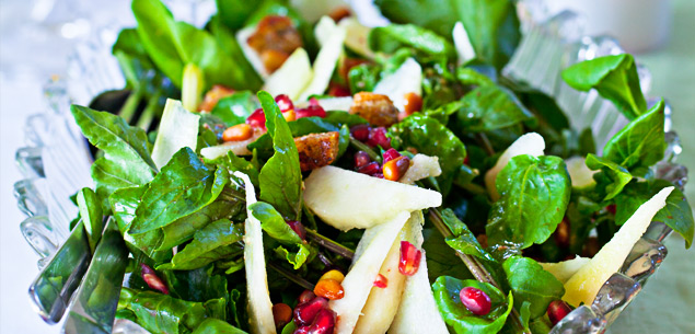 pear, watercress and pomegranate salad image: NZ womans weekly