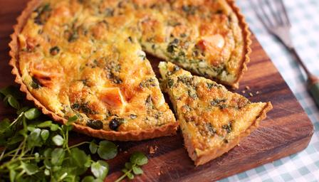 salmon and watercress tart image: bbc.co.uk